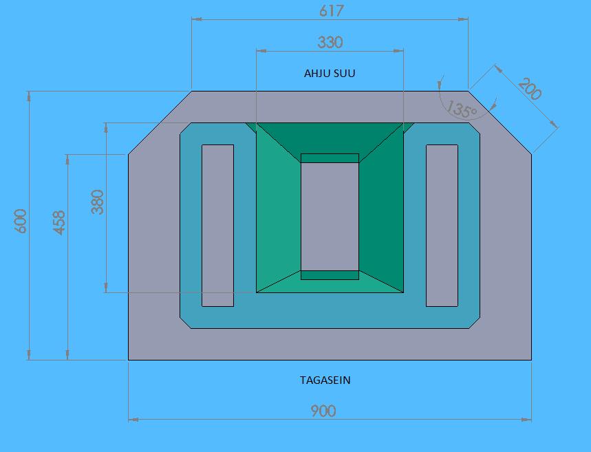 Moodulahju Anneli joonis koos mõõtmetega