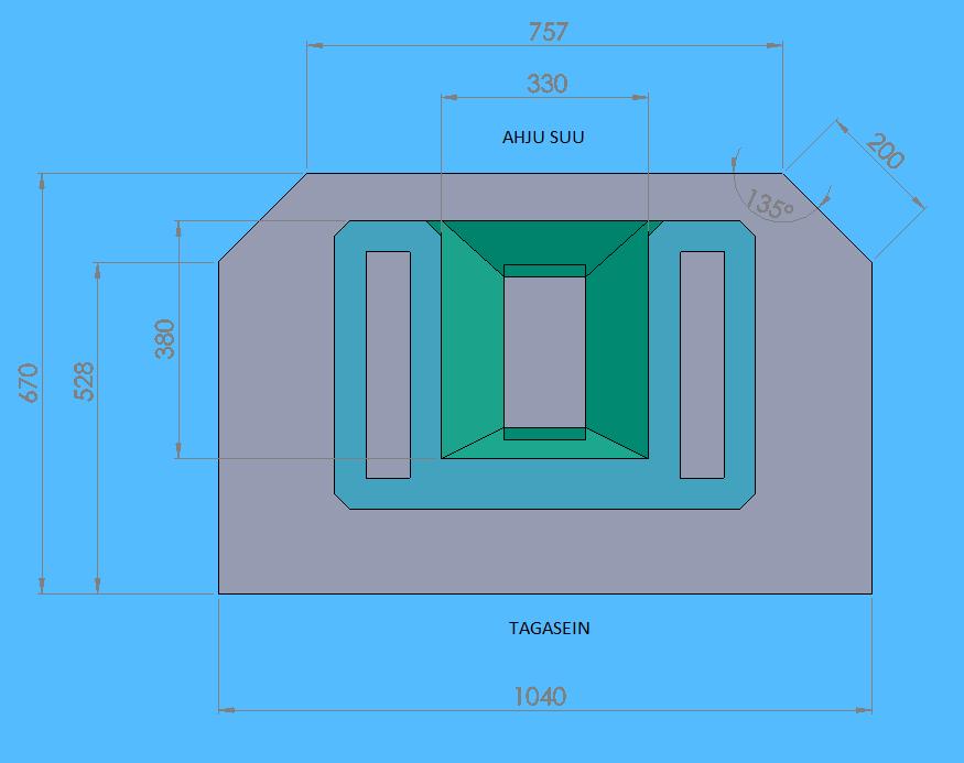 Moodulahju Karli joonis koos mõõtmetega