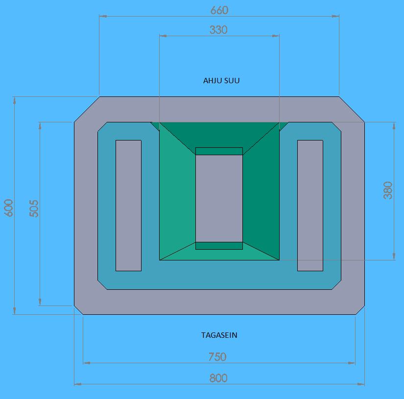 Moodulahju Mann joonis koos mõõtmetega