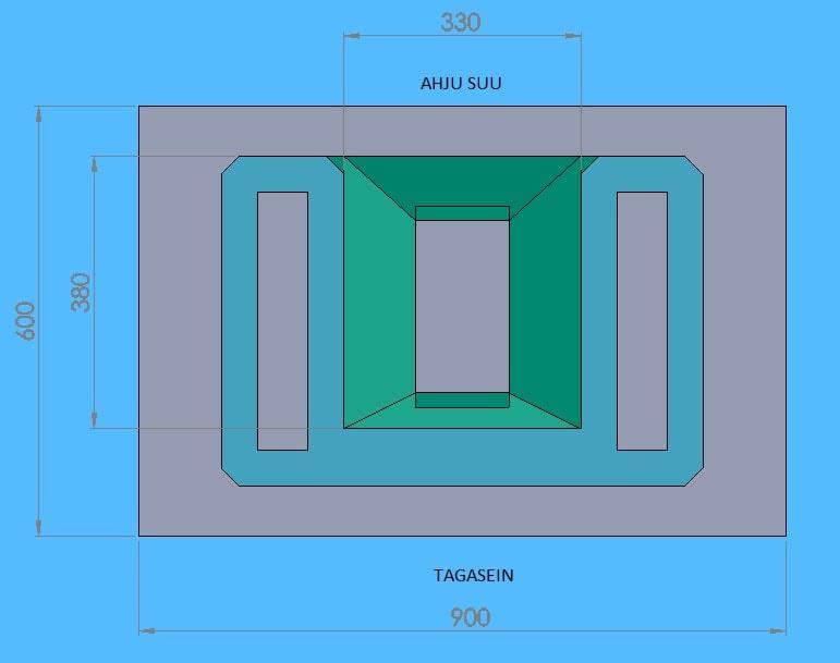 Moodulahju Tanel joonis koos mõõtmetega